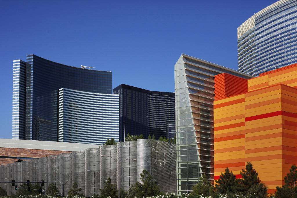 High-rise hotel on the Las Vegas Strip.